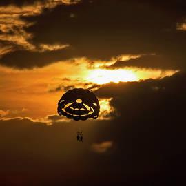 Sunset Parasailing In Key West by Bob Slitzan