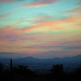 Sunset San Bernardino Valley California by Michael Hoard