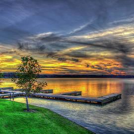 Sunset The Landing At Lake Oconee Reynolds Plantation Landscape Art by Reid Callaway