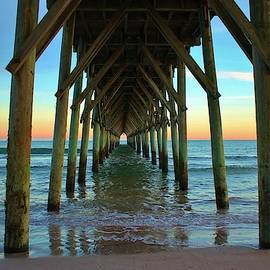 Sunset Under The Pier by Cynthia Guinn