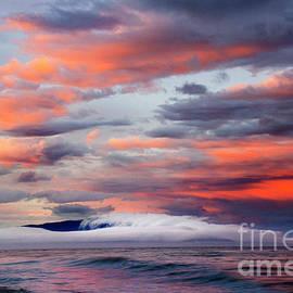 Sunset Vancouver Island Rathtrevor Beach  by Bob Christopher