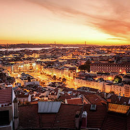 Sunset View - Lisbon, Portugal by Nico Trinkhaus