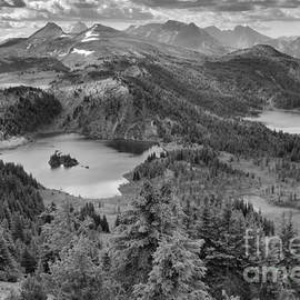 Sunshine Meadows Overlook Black And White by Adam Jewell