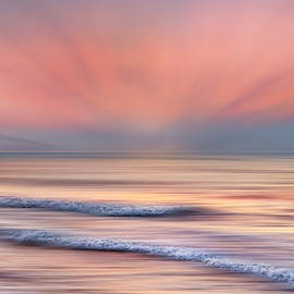 Surf At Sunrise Dreamscape by Debra and Dave Vanderlaan