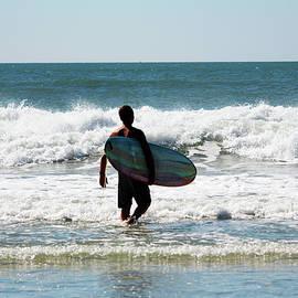 Surfer Dude At The Beach by Cynthia Guinn