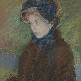 Susan In A Straw Bonnet by Mary Cassatt