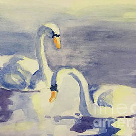 Swans by Linda Anderson