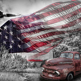 Sweet Land of Liberty Color Selected Red, Blue, White and Black by Debra and Dave Vanderlaan