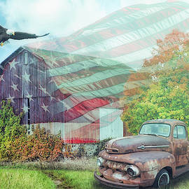 Sweet Land of Liberty on a Misty Morning by Debra and Dave Vanderlaan