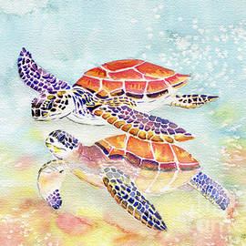 Swimming Together - Sea Turtle