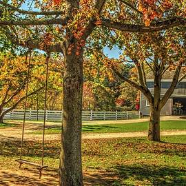 Swinging into autumn at Holmdel Park in Holmdel, New Jersey by Geraldine Scull