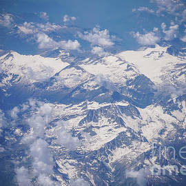 Swiss Alps aerial view 1 by Claudia M Photography