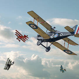 Tables Turned - SE5 and Triplane by Pat Speirs