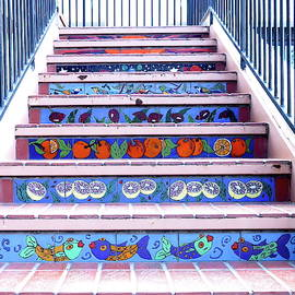 Talavera Tile Stairway by Bonnie See