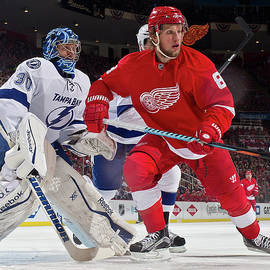 Tampa Bay Lightning V Detroit Red Wings by Dave Reginek