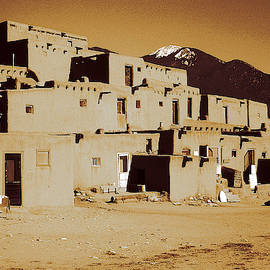 Taos Pueblo New Mexico - Vintage Photo Art by Peter Potter