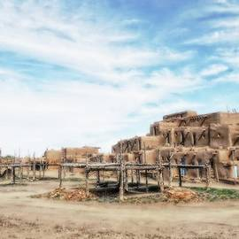 Taos Pueblo Under A Big Sky by Toni Abdnour