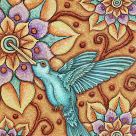 Tapestry Hummingbird by Amy E Fraser