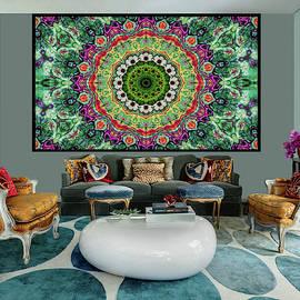 Tapestry -Mandala -Artwork in Situ by Grace Iradian