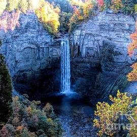Taughannock Falls in Autumn by Rose Santuci-Sofranko