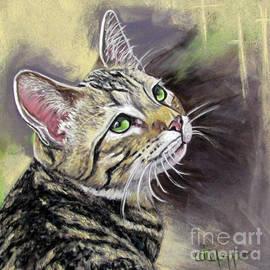 Tawny striped cat  by Cat Culpepper
