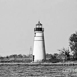 Tchefuncte River Lighthouse - BW by Scott Pellegrin