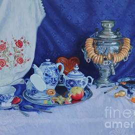 Tea still life by Simon Kozhin