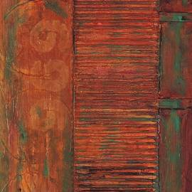 Teal on Rusty Steel 969 by Bill Tomsa