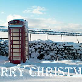 Telephone Box Snow - Merry Christmas IIi by Helen Northcott