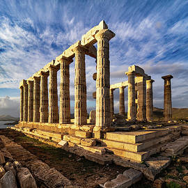 Temple of Poseidon by Morey Gers