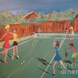 Tennis Girls by Patty Donoghue