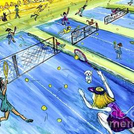 Tennis Match Whimsy by Patty Donoghue