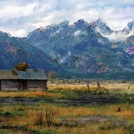 Teton Mormon Barn Paintery by Norma Brandsberg