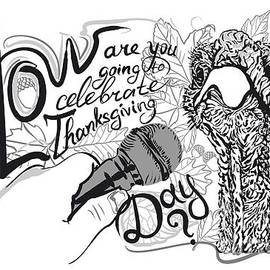 Thanksgiving Day b-w by Vladimir Evdokimov
