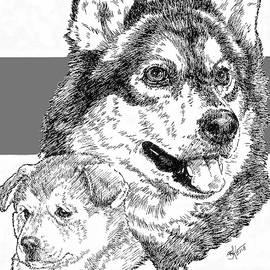 The Alaskan Malamute and Pup by Barbara Keith