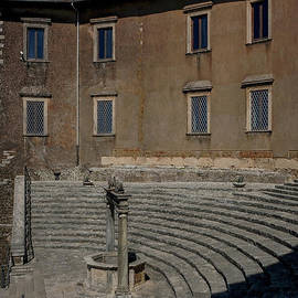 Renaissance Palazzo Colonna Barberini on site of ancient Temple of Fortuna, Palestrina, Roma, Italy by Terence Kerr