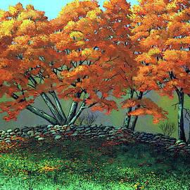 The Blaze Of Autumn by Frank Wilson