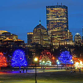 The Boston Common Lit Up For Christmas New Year's Eve by Toby McGuire