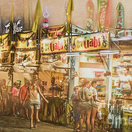 The Canfield Fair Evening Midway by Janice Pariza