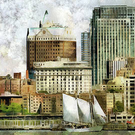 The city   by Geraldine Scull