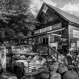 The Crazy Mule Antiques in Black and White by Debra and Dave Vanderlaan