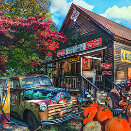 The Crazy Mule Antiques Painting by Debra and Dave Vanderlaan