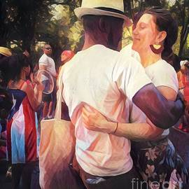 The Dance - After the Parade - Central Park New York by Miriam Danar