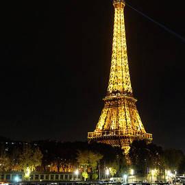 The Eiffel Tower Paris France at Night by Wayne Moran