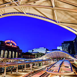 The Eye Of Denver Union Station At Dawn by Gregory Ballos