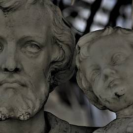 The Eyes Of St. Joseph Statue In New Orleans by Michael Hoard