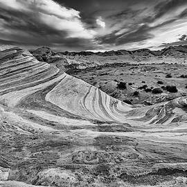 The Fire Wave In Black And White by Rick Berk