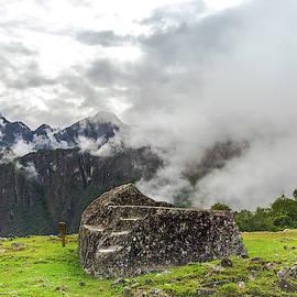 The Funerary Rock at Machu Picchu, Peru by Amy Sorvillo