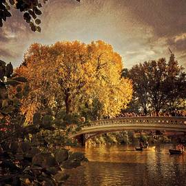The Golden Hour - Central Park in Fall by Miriam Danar
