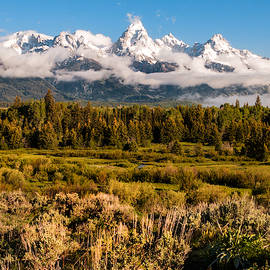 The Grand Tetons With Fog - Grand Tetons National Park Wyoming by Brian Harig